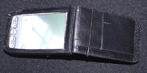 Top view of elastic holding case open